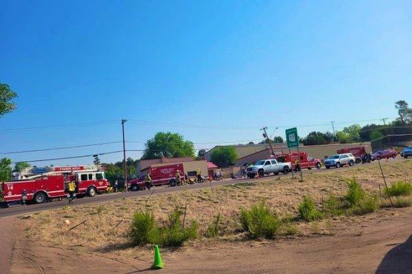 راننده کامیون دوچرخه سواران را زیر گرفت/۹ تن زخمی شدند