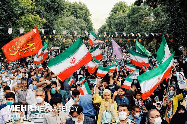 People in Hamedan celeberate Raeisi victory