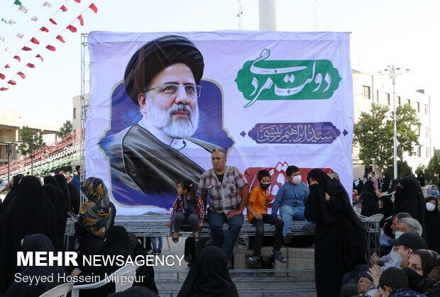 جشن بزرگ پیروزی انتخابات در مشهد