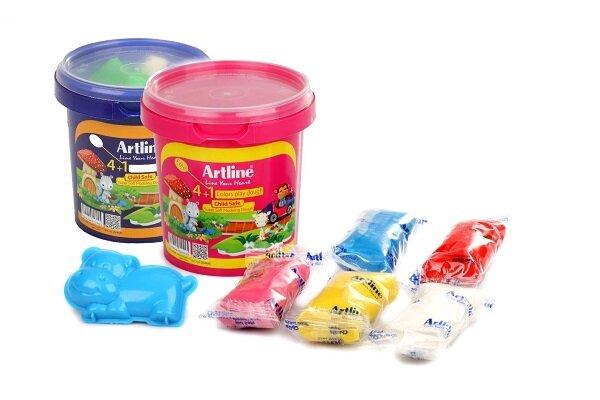 خمیر بازی آرت لاین ساخته شده از آرد گندم،نشاسته ذرت و رنگ خوراکی