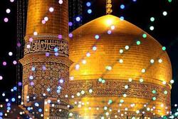 نورافشانی آسمان کرمانشاه در شب میلاد امام رضا (ع)