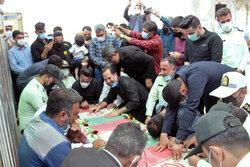 تشییع و خاکسپاری شهید حادثه سقوط بالگرد در دزفول