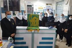 حضور کاروان خدام حرم رضوی در بیمارستان امام خمینی(ره) بروجرد