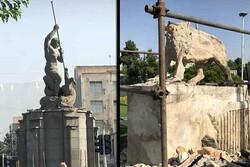 انتقاد از نحوه جمعآوری مجسمههای شهری توسط شهرداری تهران