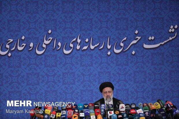 نخستین اظهارات رئیسی در نشست خبری درباره انتخابات ۱۴۰۰/ امید و اعتماد برمیگردد