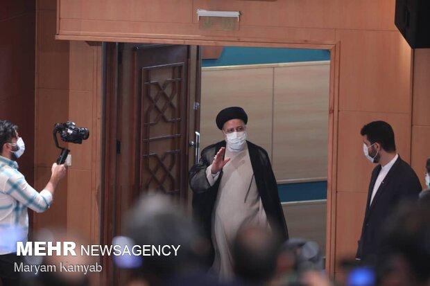 اولین نشست خبری حجت الاسلام رئیسی، رئیس جمهور منتخب جمهوری اسلامی ایران