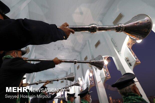 Naqareh drum playing ritual at Imam Reza (AS) holy shrine
