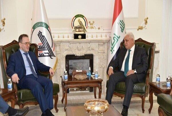 رایزنی رئیس سازمان حشد شعبی عراق با سفیر روسیه در بغداد