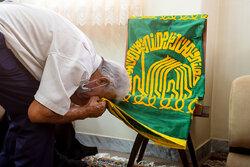 مراسم پرچم گردانی حرم امام رضا(ع) در ساری