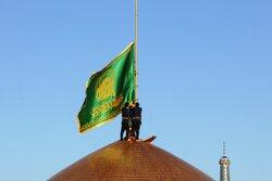 پرچم گنبد مطهر امام رضا (ع) تعویض شد