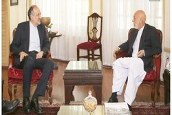 Iran envoy discusses 'peace process' with former Afghan Pres.