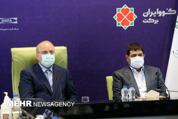 قالیباف از کارخانه تولید نخستین واکسن ایرانی کرونا بازدید کرد