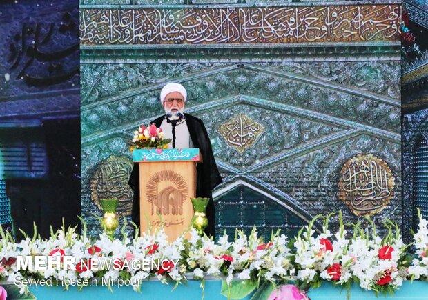 جشن میلاد با سعادت حضرت رضا (ع) در مشهد با سخنرانی رئیس جمهور منتخب
