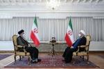 آیت اللہ رئیسی کی ایران کے موجودہ صدر روحانی سے ملاقات اور گفتگو