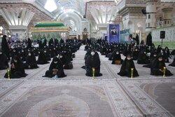 برگزاری مراسم خطبه خوانی خادمیاران رضوی در مرقد امام خمینی