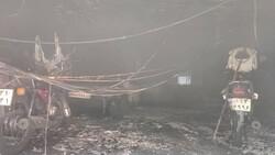 آتش سوزی دامداری در اصفهان/۲۱ راس گوسفند و یک راس اسب نجات یافتند