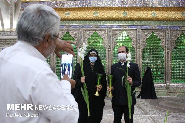 Imam Reza birthday anniv. held in Imam Khomeini Mausoleum