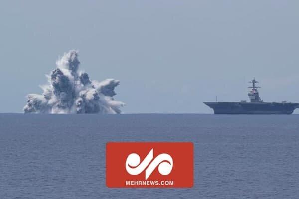 انفجار در نزدیکی ناو جنگی