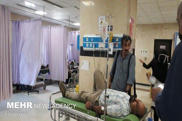 حادثه واژگونی اتوبوس حامل خبرنگاران