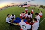 امدادرسانی به حادثه دیده گان سانحه واژگونی اتوبوس حامل خبرنگاران