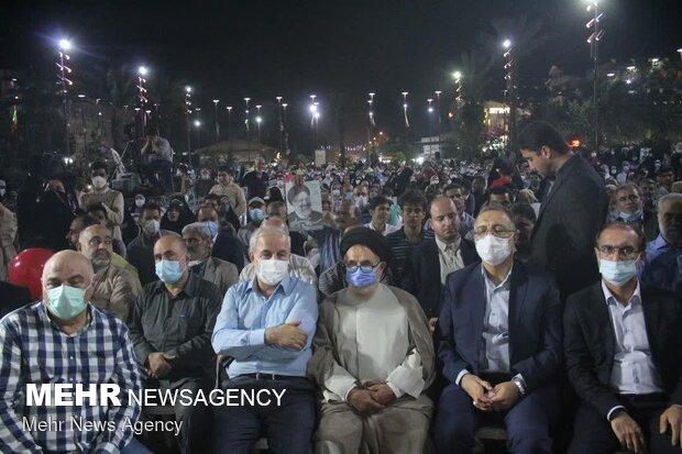 People in Rasht celebrate Raeisi's victory