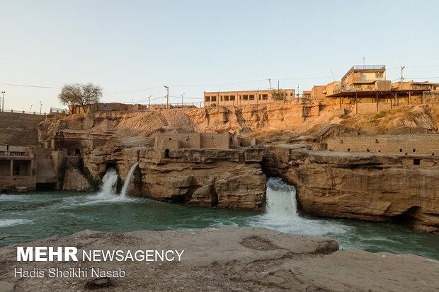 Tarihi Şuşter su değirmenlerinden fotoğraflar