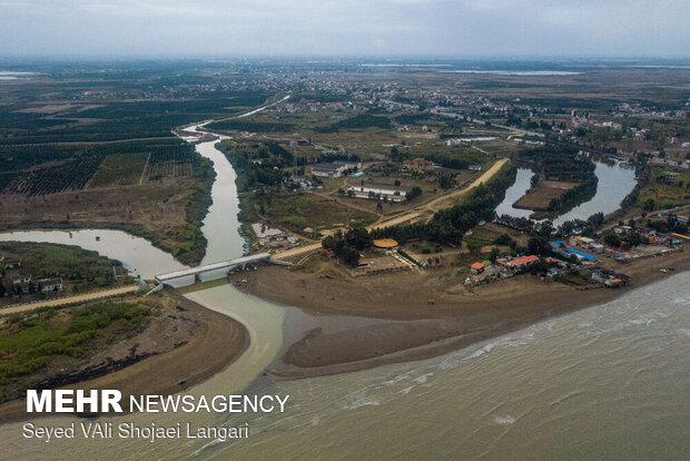 ورودی رودخانه تجن قبل از قطع درختان ۱۳۹۹/۰۷/۱۷