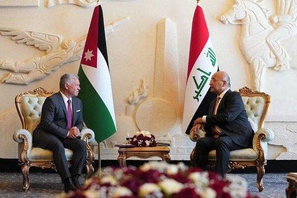 رایزنی رئیس جمهوری عراق با پادشاه اردن در بغداد