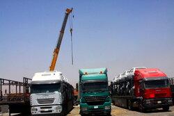 Irak'a açılan Mehran Sınır Kapısı'ndan ihracat sürüyor