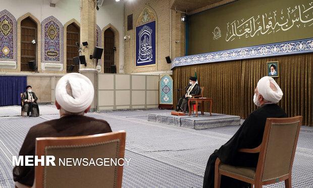 Ayetullah Hamanei yargı mensupları ile görüştü