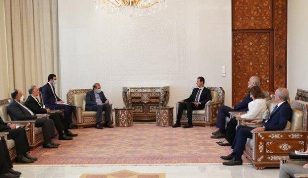 الأسد يبحث مع خاجي تعزيز العلاقات والتعاون الثنائي بين البلدين