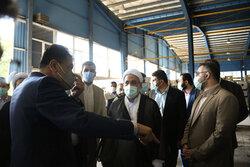 بازدید رئیس کل دادگستری استان مازندران از واحد های تولیدی