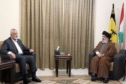 Nasrallah, Haniyeh discuss means to reach 'decisive victory'