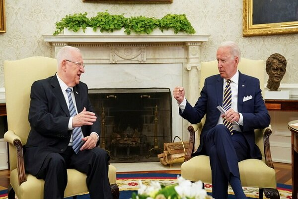Biden reiterates anti-Iranian claims in meeting with Rivlin