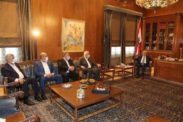 Hamas lideri, Lübnan Meclisi Başkanı ile görüştü