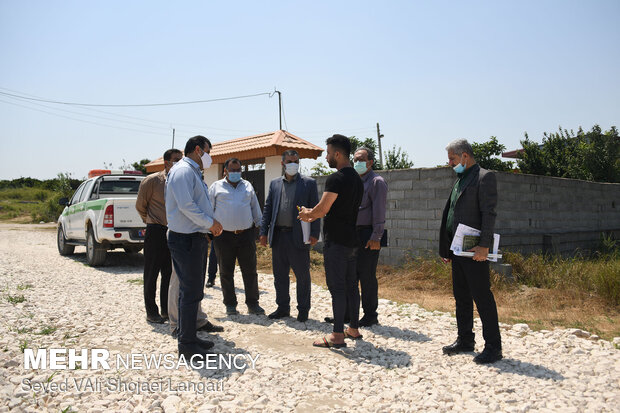 بازدید معاون دادستان و دبیر شورای حفظ بیت المال استان مازندران از تالاب نفتی ساری