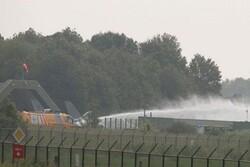 یک جنگنده بلژیک با ساختمانی در پایگاه هوایی هلند برخورد کرد