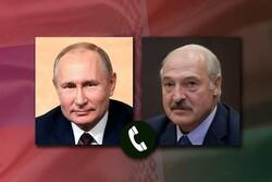 پوتین و لوکاشنکو گفتگو کردند