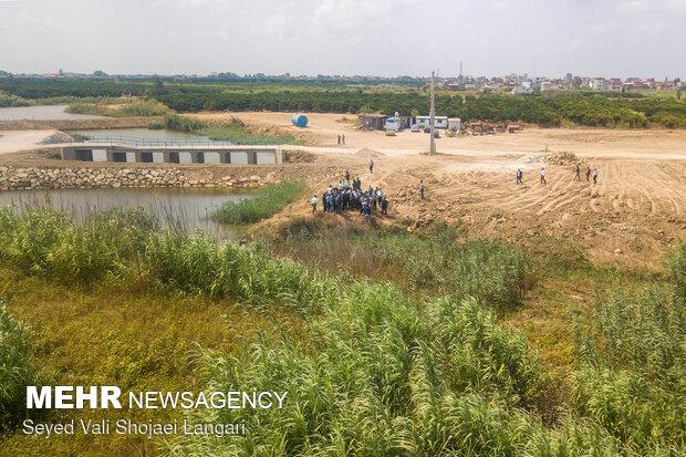 اجرای حکم رفع تصرف و اعاده به وضع سابق تالاب نفتی ساری(فرح آباد)