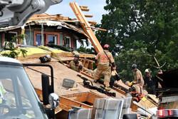 ریزش یک ساختمان در واشنگتن دی سی آمریکا/ کارگران زیر آوار ماندند
