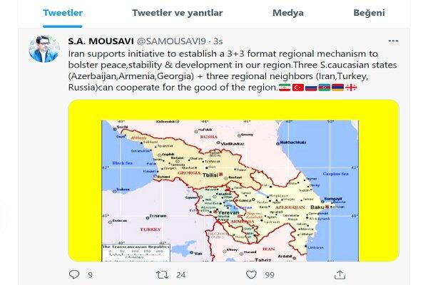 İran, Güney Kafkasya'da barış mekanizmasını destekliyor