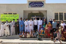 افتتاح مدرسه در منطقه محروم مرزی به نام قهرمان کشتی جهان