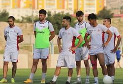 تمرین تیم فوتبال تراکتور پیش از دیدار با استقلال