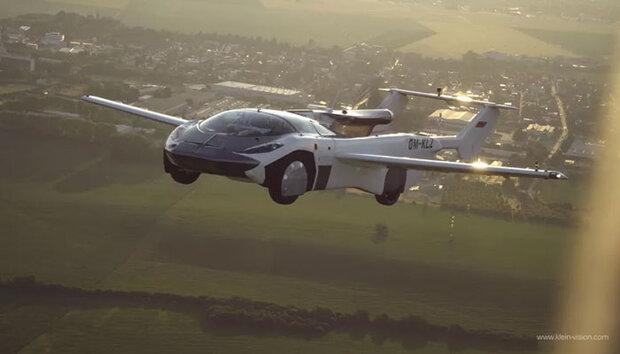 سلوواکیہ میں اڑنے والی کار نے اپنی پہلی پرواز کامیابی سے مکمل کرلی