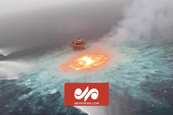 VIDEO: Bizarre undersea fire burning in Gulf of Mexico