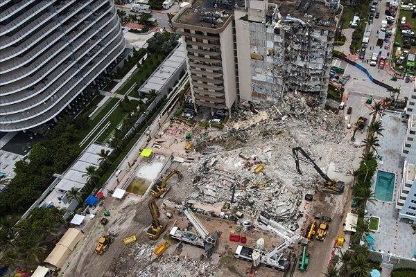 Miami'de çöken binanın tamamının yıkılmasına karar verildi
