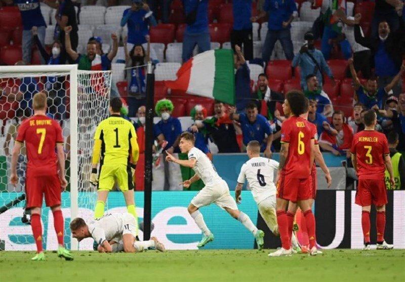 خیز بلند ایتالیا برای قهرمانی با شکست بلژیک