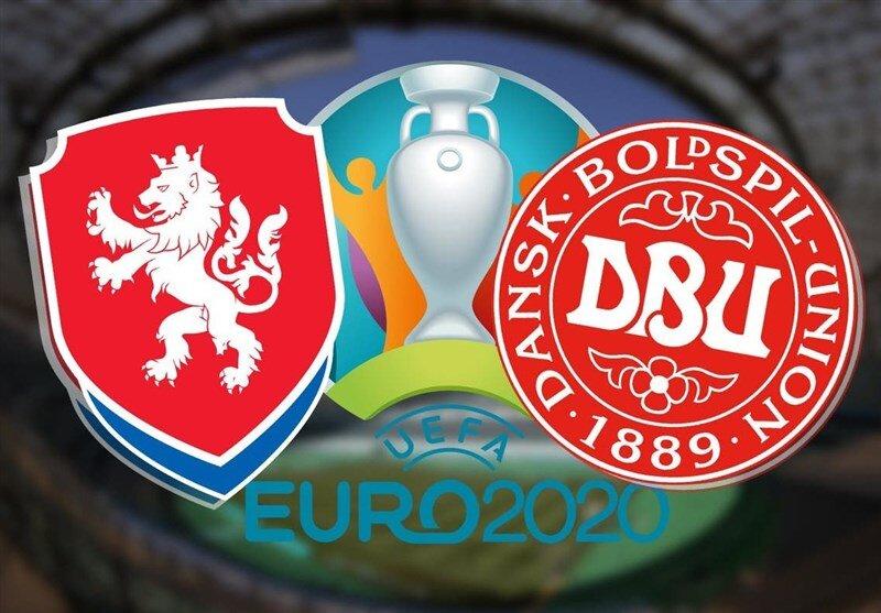 برد دانمارک مقابل جمهوری چک در نیمه اول