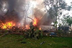 Philippine military plane crashes with 92 people aboard