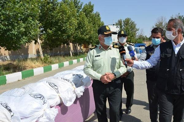 کشف یک تن و ۷۵۰کیلوگرم موادمخدر در غرب تهران/۳قاچاقچی دستگیر شدند